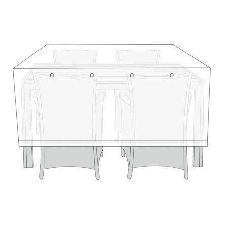 Overtræk til havemøbelsæt, 170 x 130 x 85 cm
