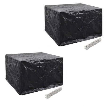 vidaXL møbelovertræk 2 stk. 4 pers. polyrattansæt 8 huller 113x113 cm
