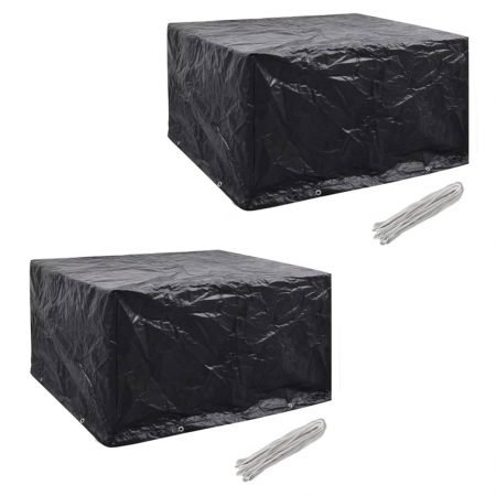 vidaXL møbelovertræk 2 stk. 6 pers. polyrattansæt 8 huller 172x113 cm