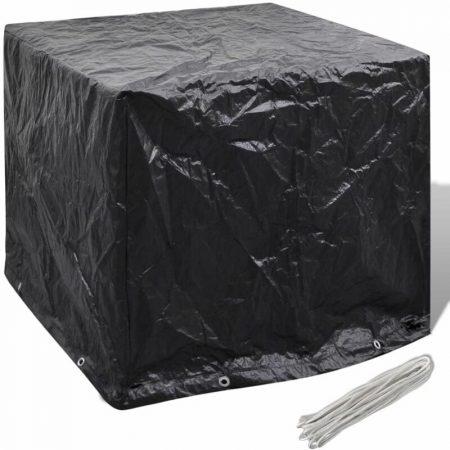 Zqyrlar - Garden Water Tank Cover 8 Eyelets 116 x 100 x 120 cm - Black